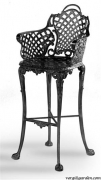 Basketweave Bar Stool