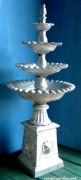 4 Tier Lion Base - Scalloped Bowls