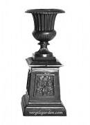 Fluted Urn on Victorian Base (Large)