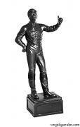 Lawn Jockey w/ Ring Statue
